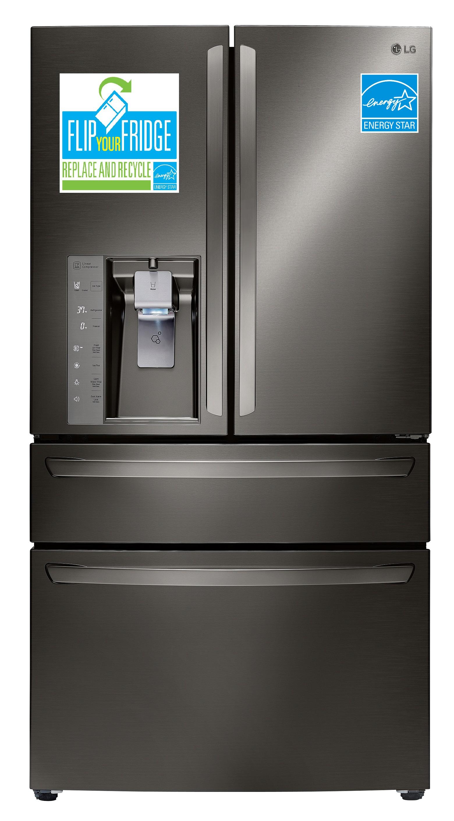 lg electronics refrigerator promotion encourages americans to flip your fridge 3bl media. Black Bedroom Furniture Sets. Home Design Ideas