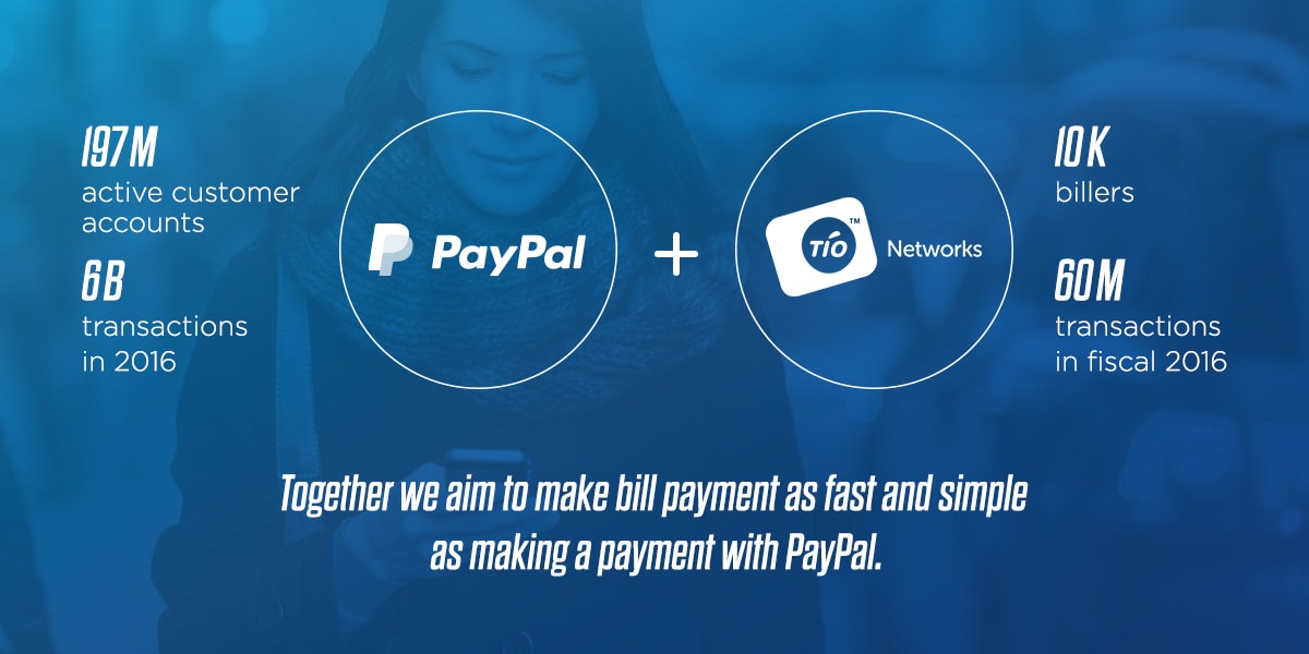 paypal to acquire tio networks to further democratize financial services justmeans. Black Bedroom Furniture Sets. Home Design Ideas