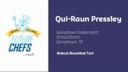 2016 Sodexo Future Chefs Competition - Featured Chef Qui'Raun Pressley