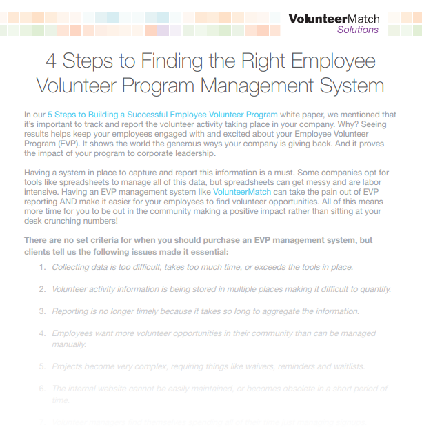 4 Steps to Finding the Right Employee Volunteer Program