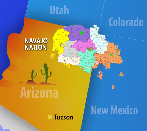 Navajo Reservation Arizona Map.Navajo Nation Man Without A Human Heart Plans To Fly To His Heart