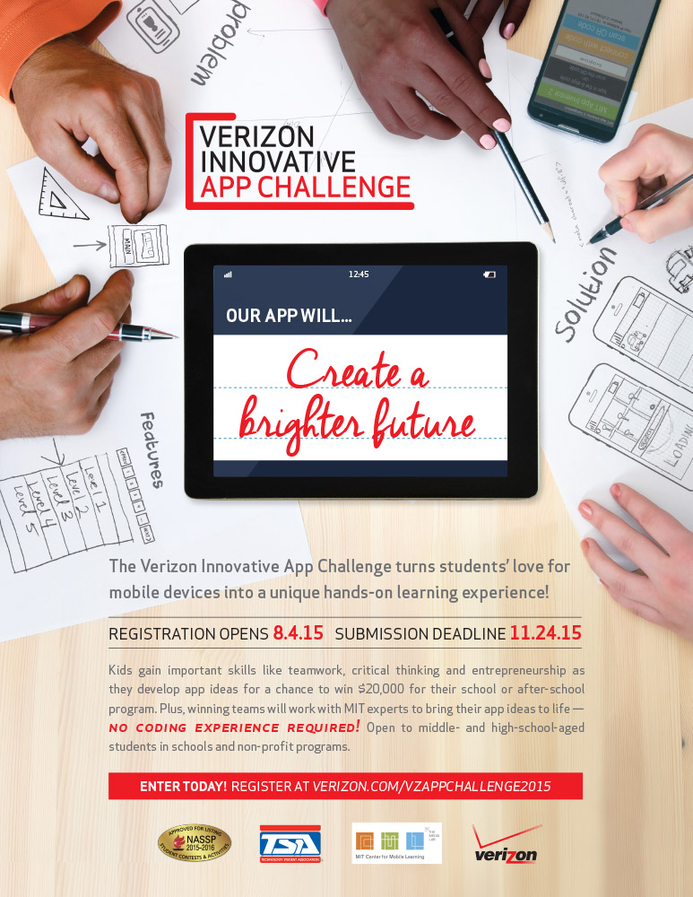 Fourth Annual Verizon Innovative App Challenge Seeks