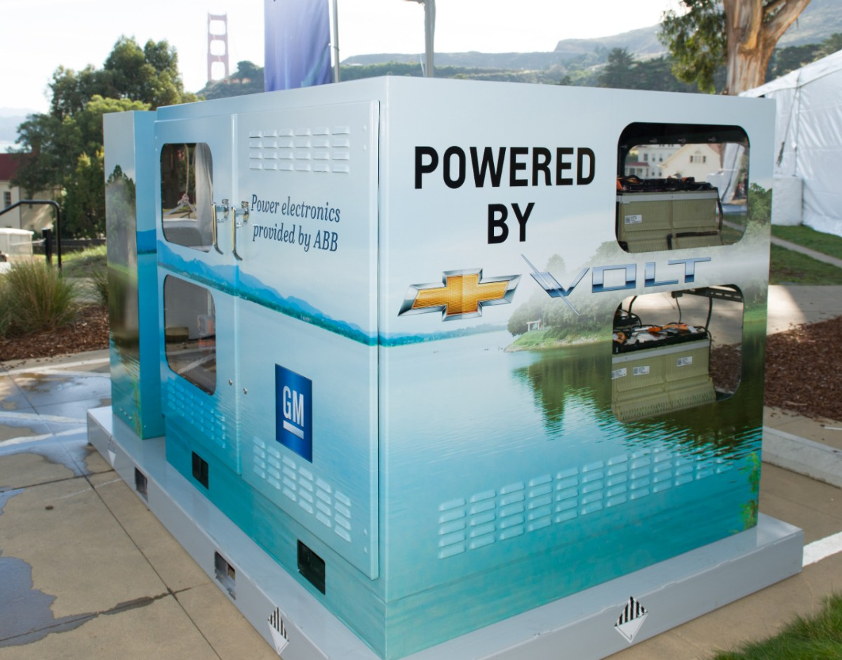 Chevy Volt Battery >> Gm And Abb Show Chevy Volt Battery Reuse Application