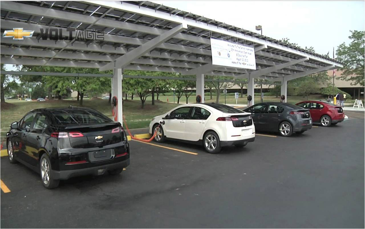 Gm Announces 18 Megawatt Solar Project In Ohio 3bl Media Power Car Powered Canopy Charging Station At The Detroit Hamtramck Assembly Plant X11ch Vt191 10 12 2010