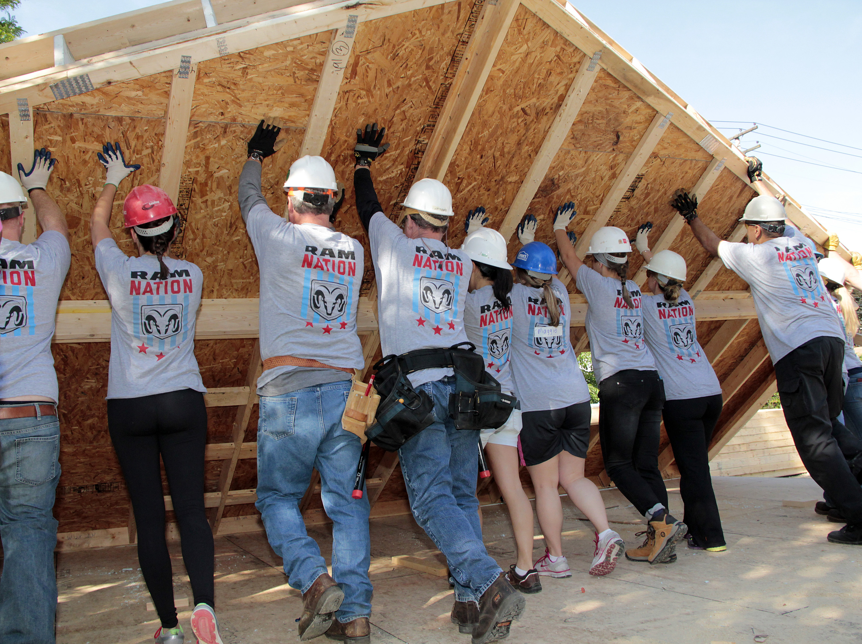 Habitat For Humanity Build A House Volunteer