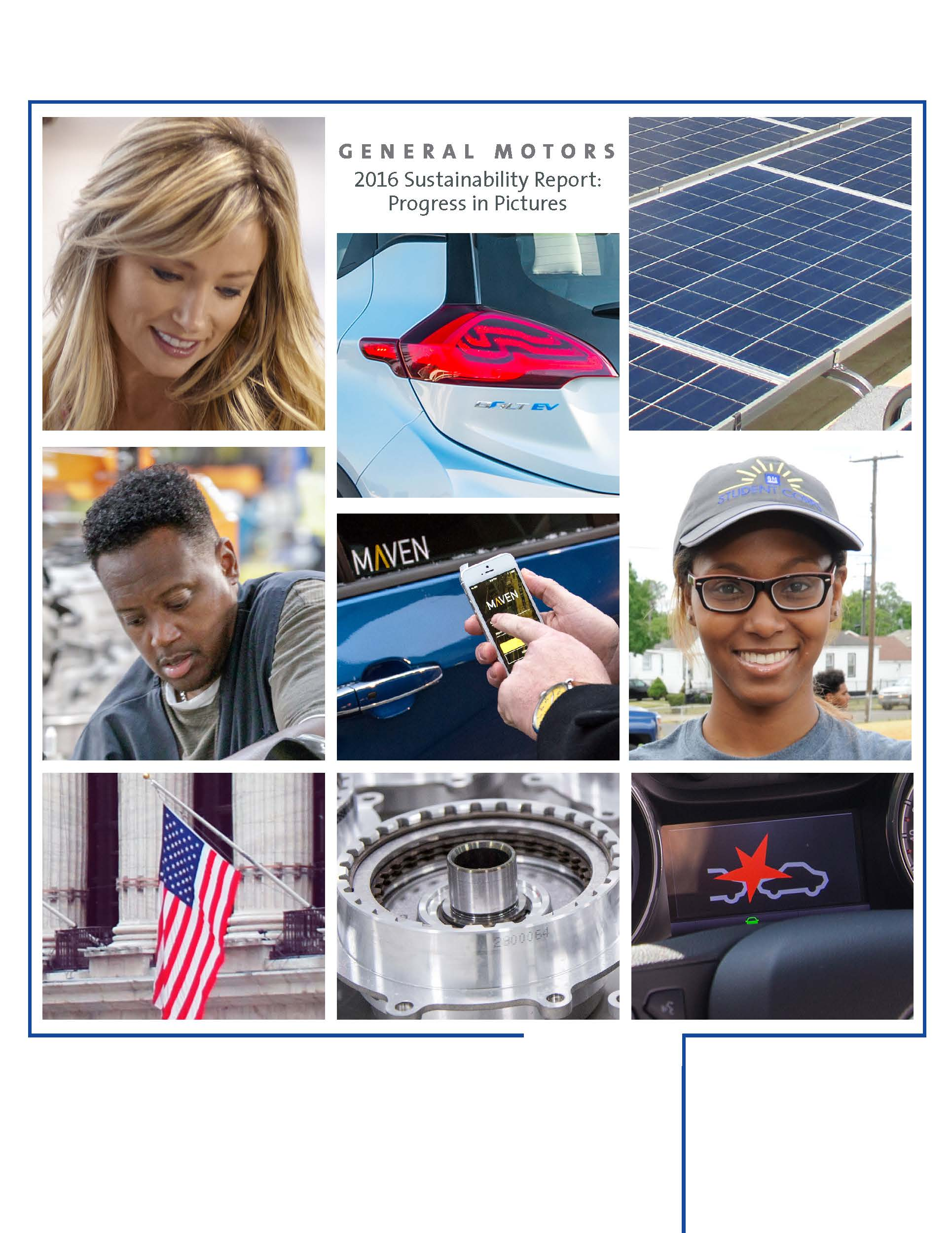 General motors 2016 sustainability report progress in for General motors annual report 2016