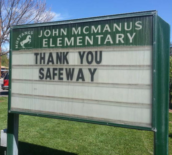 Safeway and The Safeway Foundation Support Local Schools