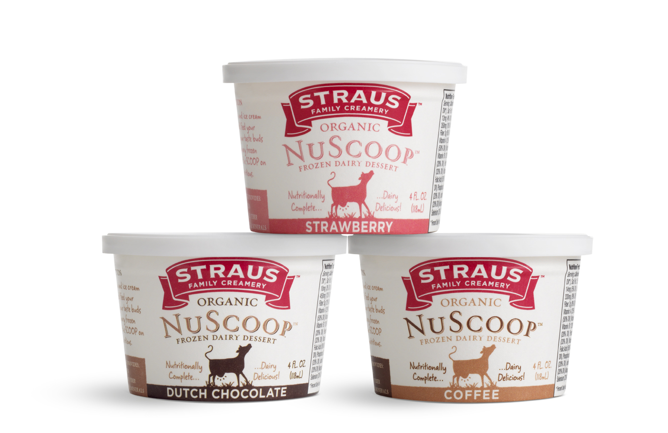 "Favorite Straus Family Creamery introduces NuScoop™ – the new ""energy bar  MR75"
