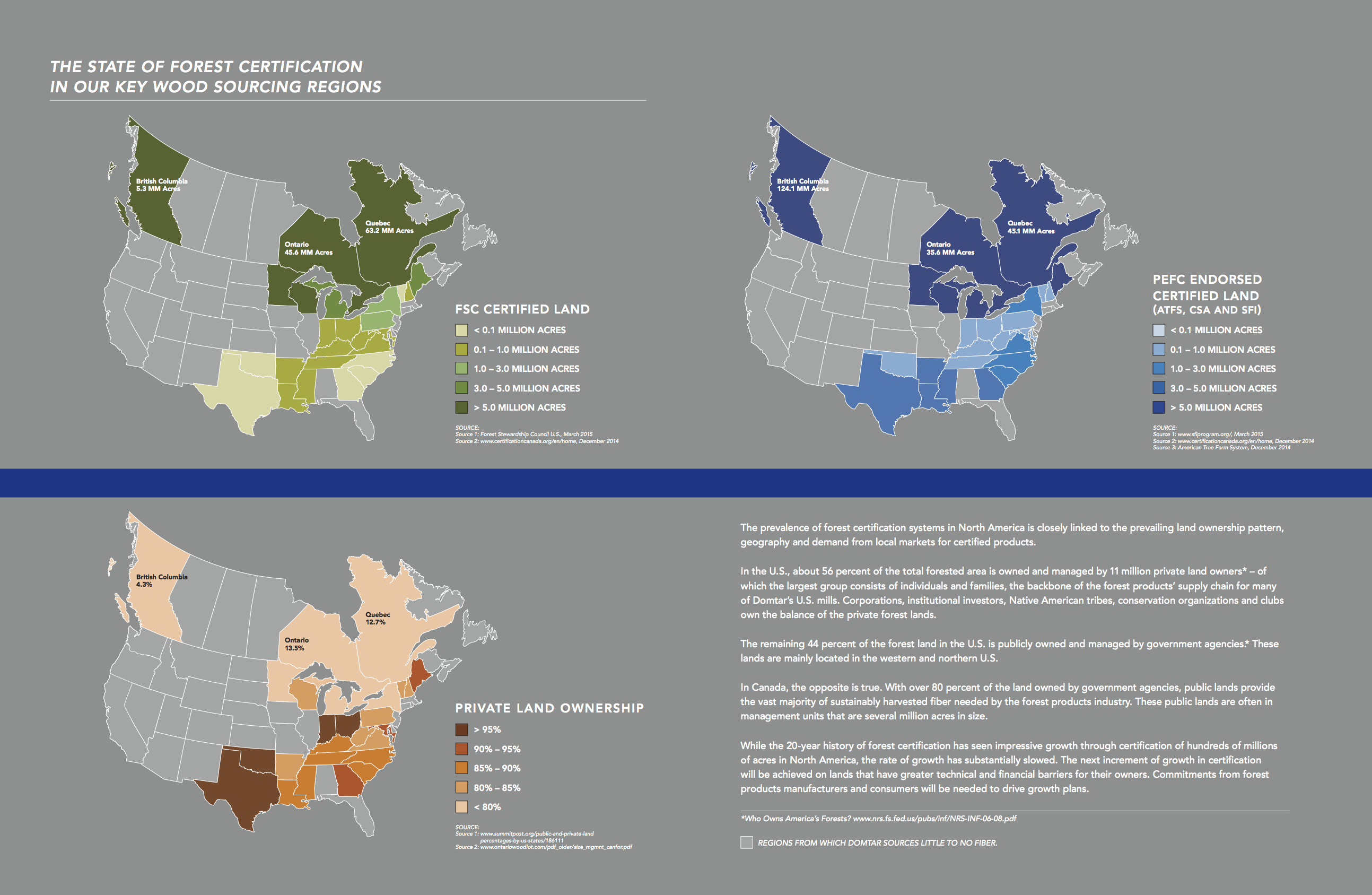 Us Map Certification.The State Of Forest Certification In Key U S Wood Sourcing Regions