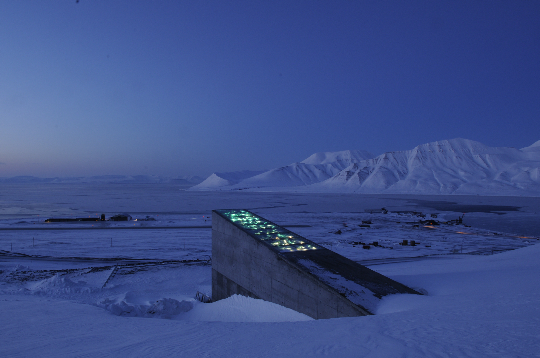 65af5373 The Svalbard Global Seed Vault sits on a Norwegian archipelago in the  Arctic Ocean. Image courtesy of the Crop Trust.