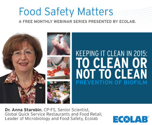 Video: Ecolab Food Safety Matters Webinar August 2015