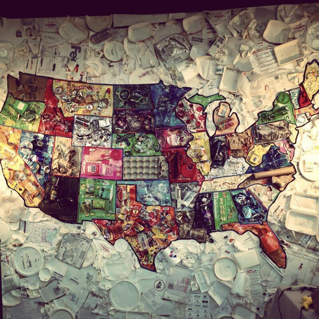 keep america beautiful jason mecier creates map of the united states using sxsw trash 3bl media