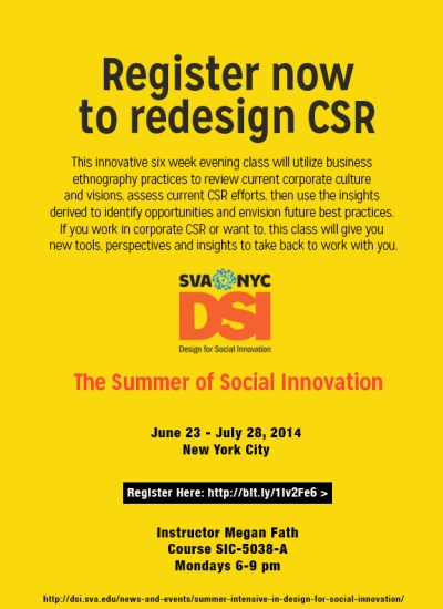 Redesigning CSR Summer Class