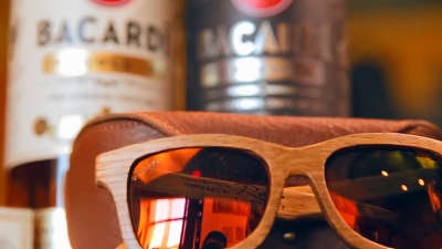8b141199d1 BACARDÍ® Crafts Wooden Sunglasses Made From Recycled Oak Rum Barrels ...